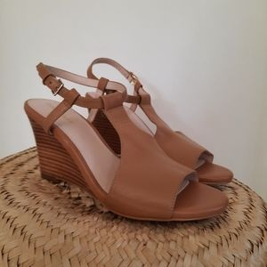Cole Haan Maddie Open Toe Wedge Sandals Size 5.5